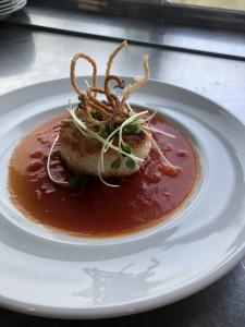 月待ち蟹の焼きリゾット〜トマトソース